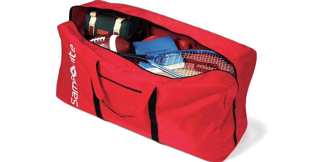 Samsonite Duffel Bag with sports gear