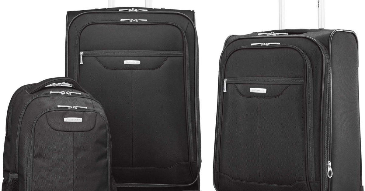 Samsonite Tenacity 3 Piece Luggage Set including two pieces of luggage and backpack