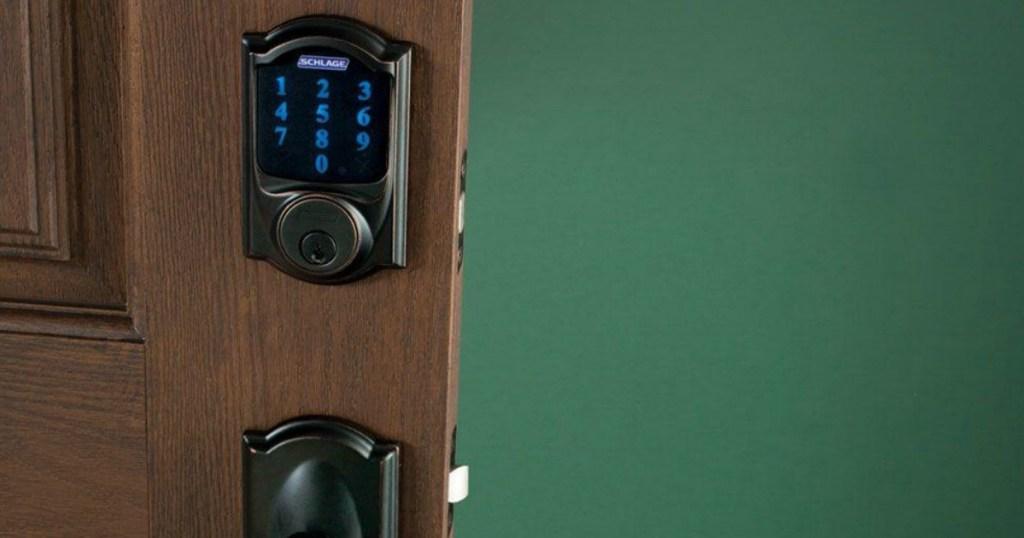 smart lock on door
