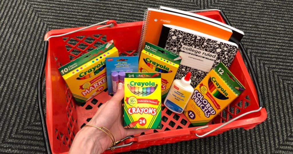 staples school supplies sale