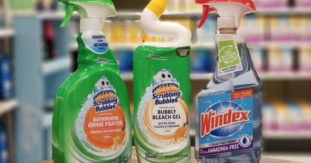 Scrubbing Bubbles and Windex Products