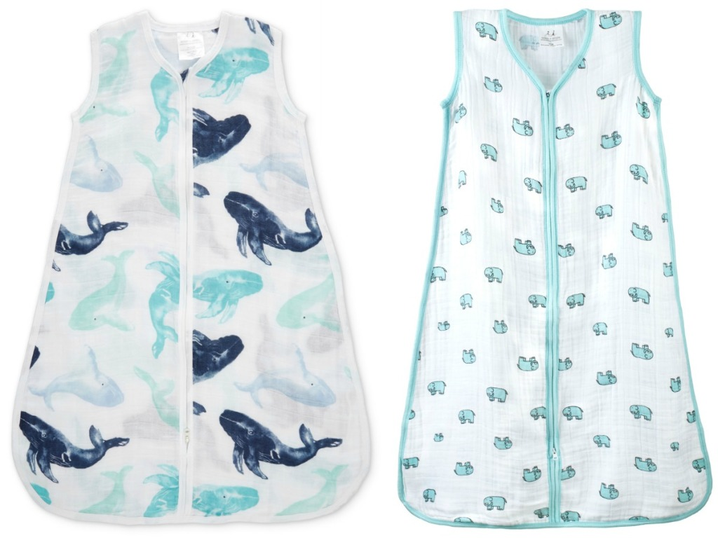 whale and elephant sleep sacks