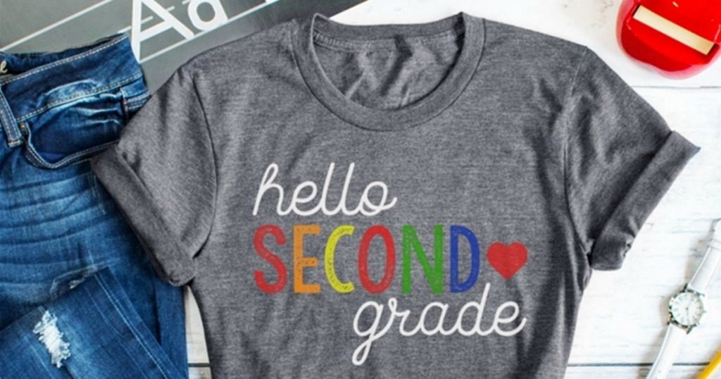 hello second grade shirt