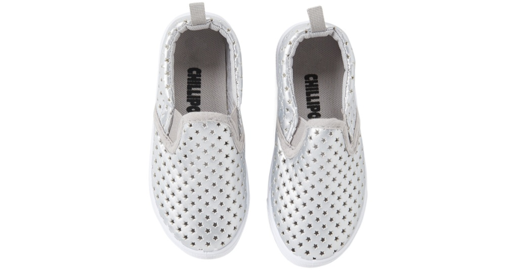 girls chillipop silver slip perforated on sneakers