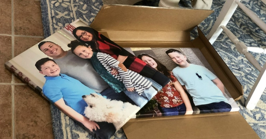Canvas Prints featuring family and dog