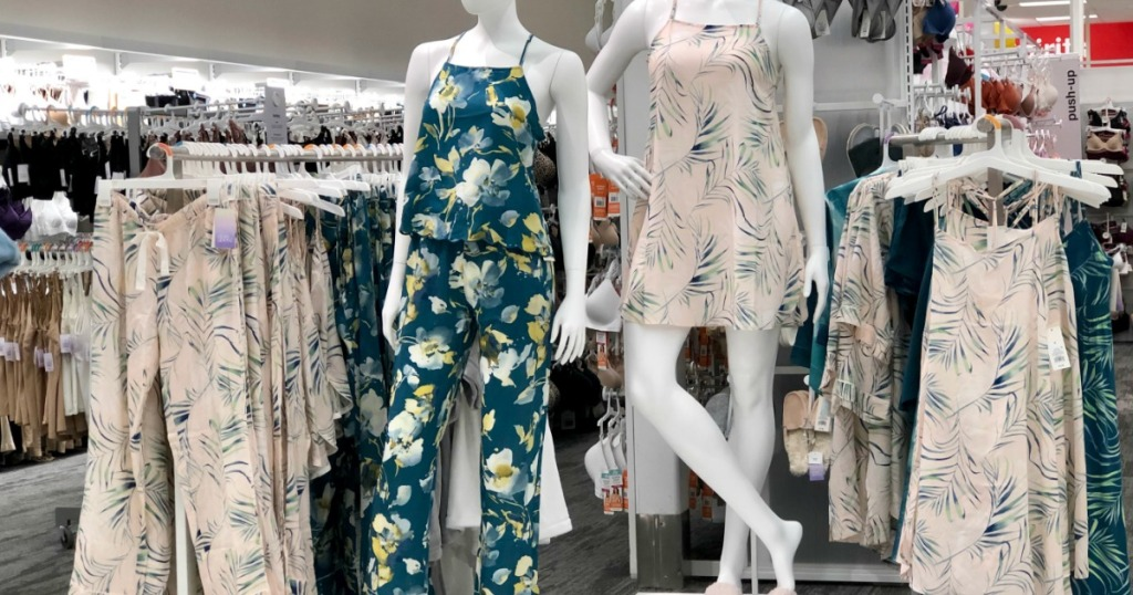 mannequins wearing Simply Cool pajamas on display at Target