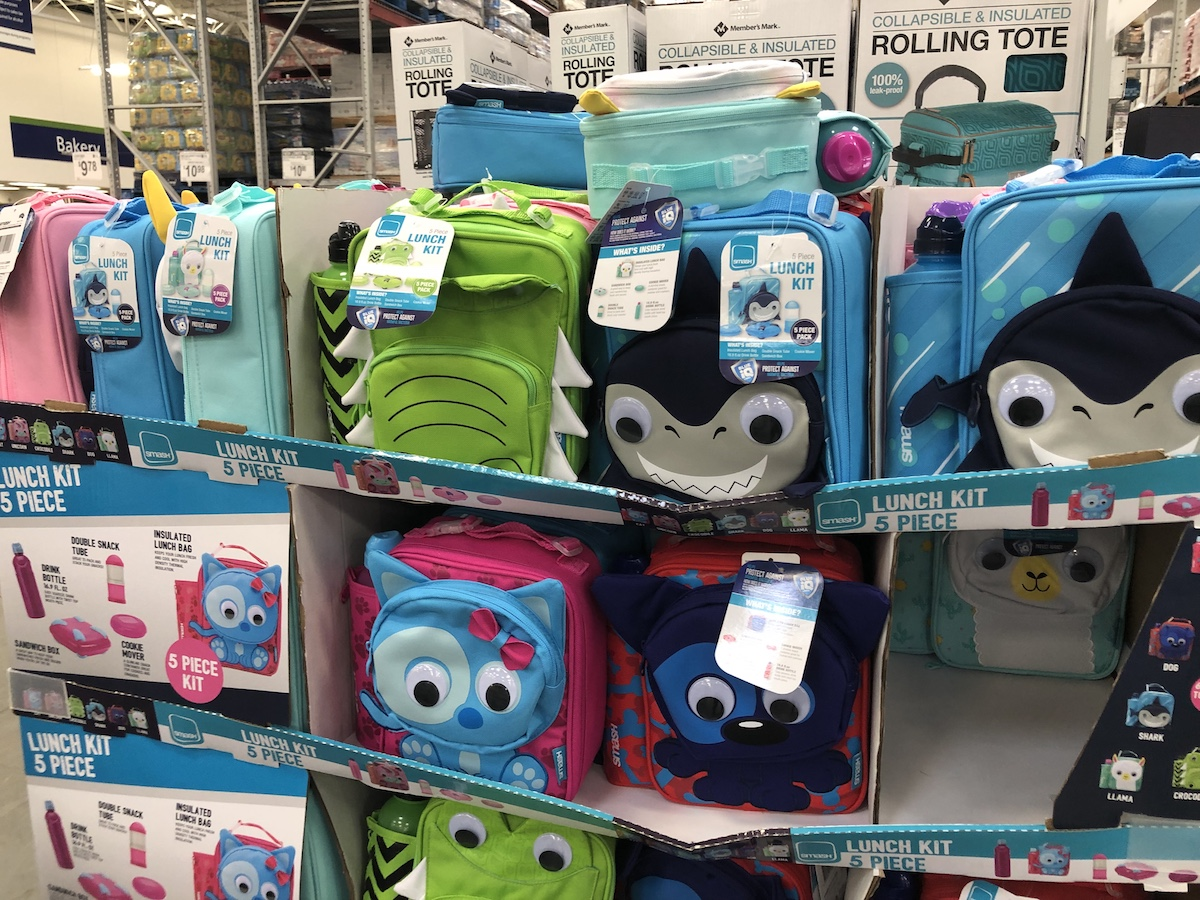 Smash lunch kits on display at Sam's Club