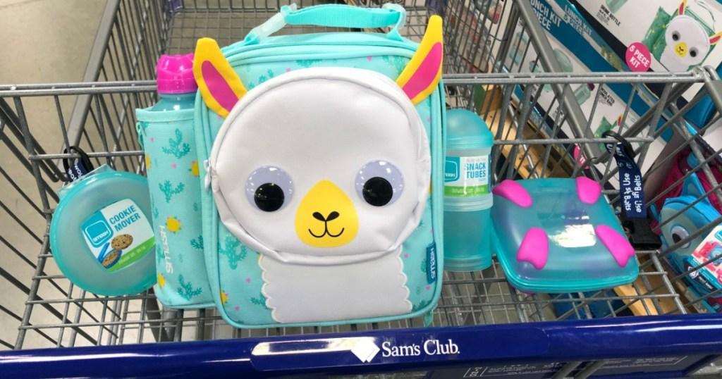 llama lunch box in Sam's Club cart