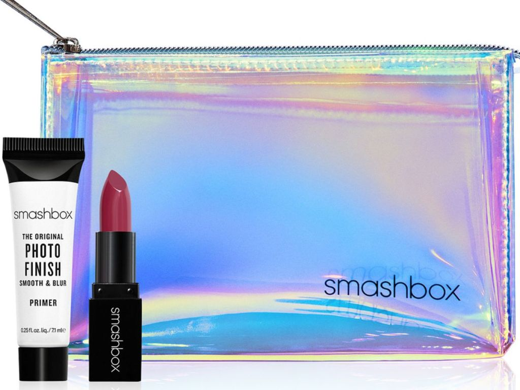 Smashbox Makeup Bag Trial-Size Be Legendary Lipstick and Trial-Size Photo Finish Classic Primer