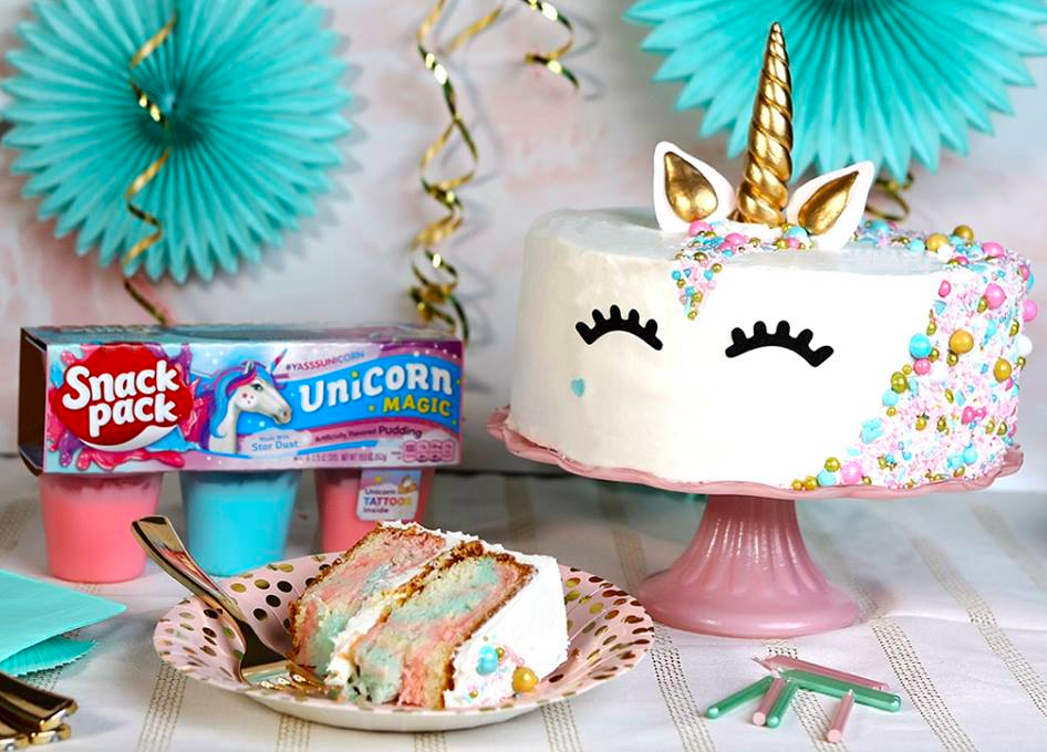 Snack Pack Unicorn Magic & Dragon Treasure Pudding Cups Available at