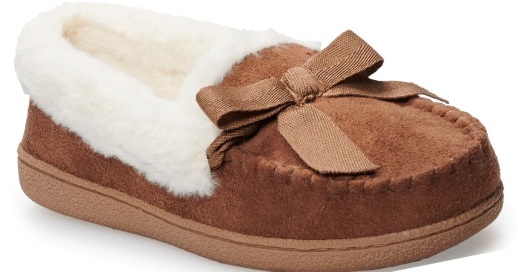 91039f1e4b9 Sonoma Goods for Life Women's Moccasin Slippers Only $14.39 at ...