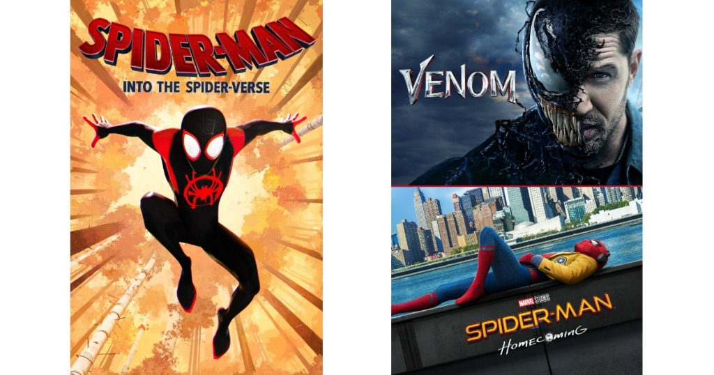 Spider-Man and Venom Movie Covers