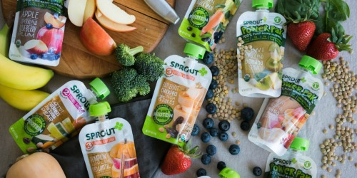 30% Off Sprout Organic Baby Food Pouches + Free Shipping on Amazon