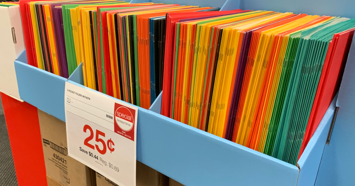 25 cent folders at Staples