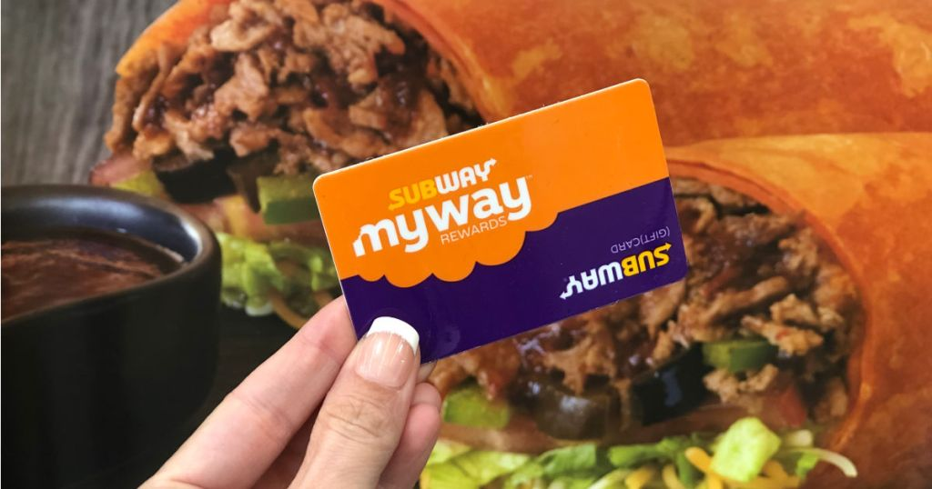 subway rewards program card