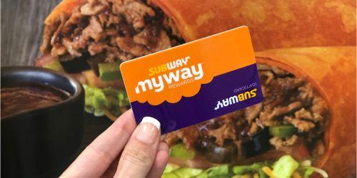 Subway MyWay Rewards (Score Freebies, Exclusive Savings & More)
