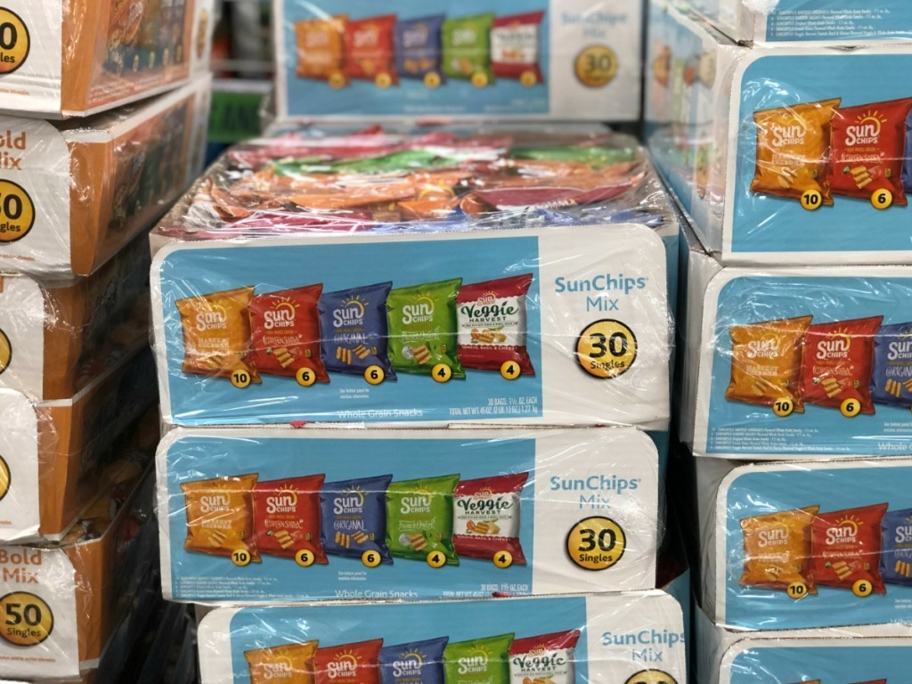 Sun Chips packages at Sam's Club