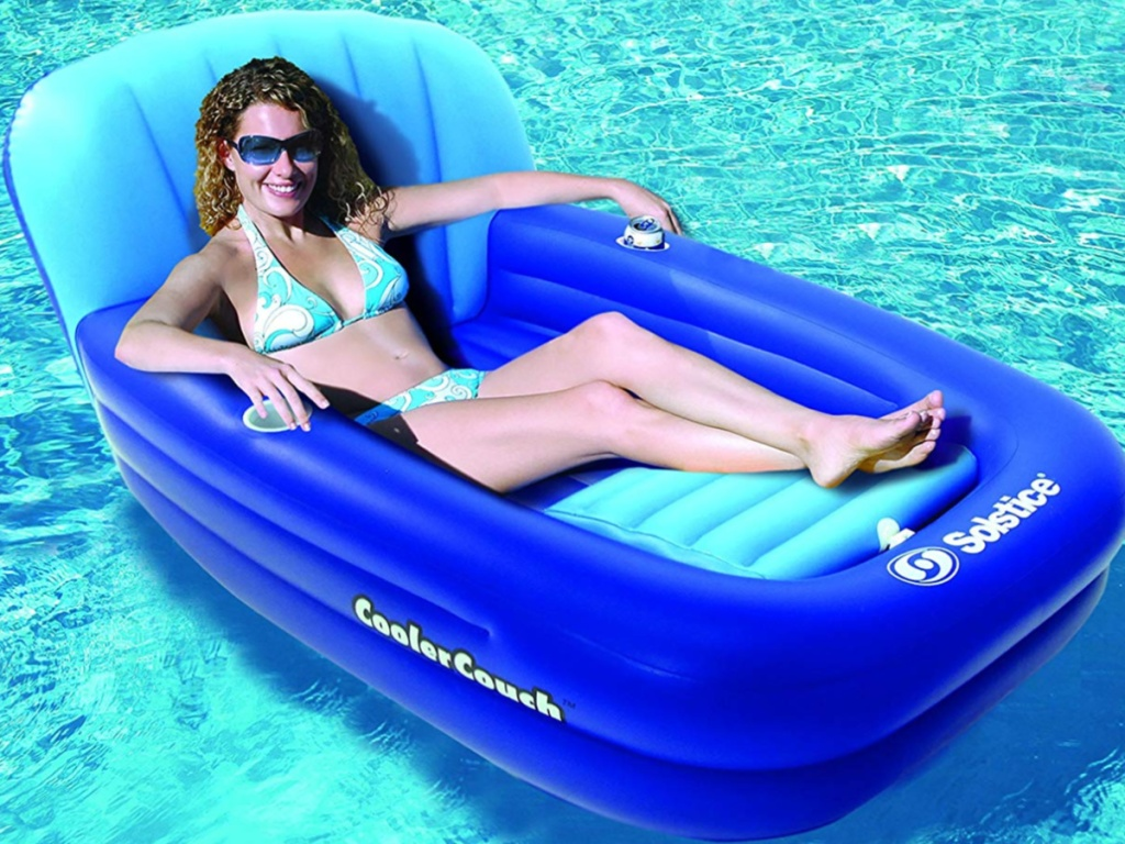 Swimline Cooler Couch Inflatable Pool Lounger