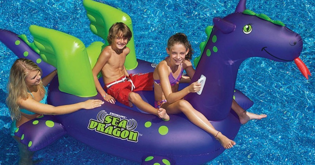 Swimline Giant Sea Dragon Inflatable Pool Float Only $19.99 ...