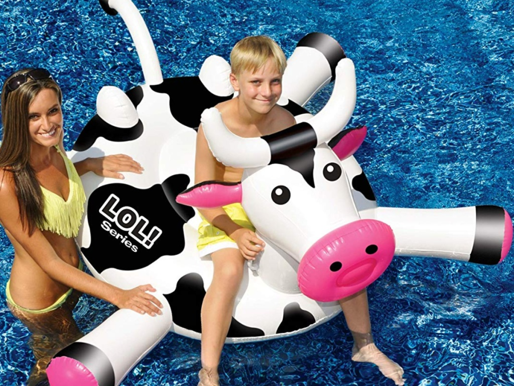 Swimline LOL Cow Inflatable Pool Float