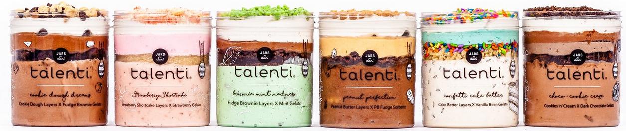 Different flavors of Talenti Layered Gelato