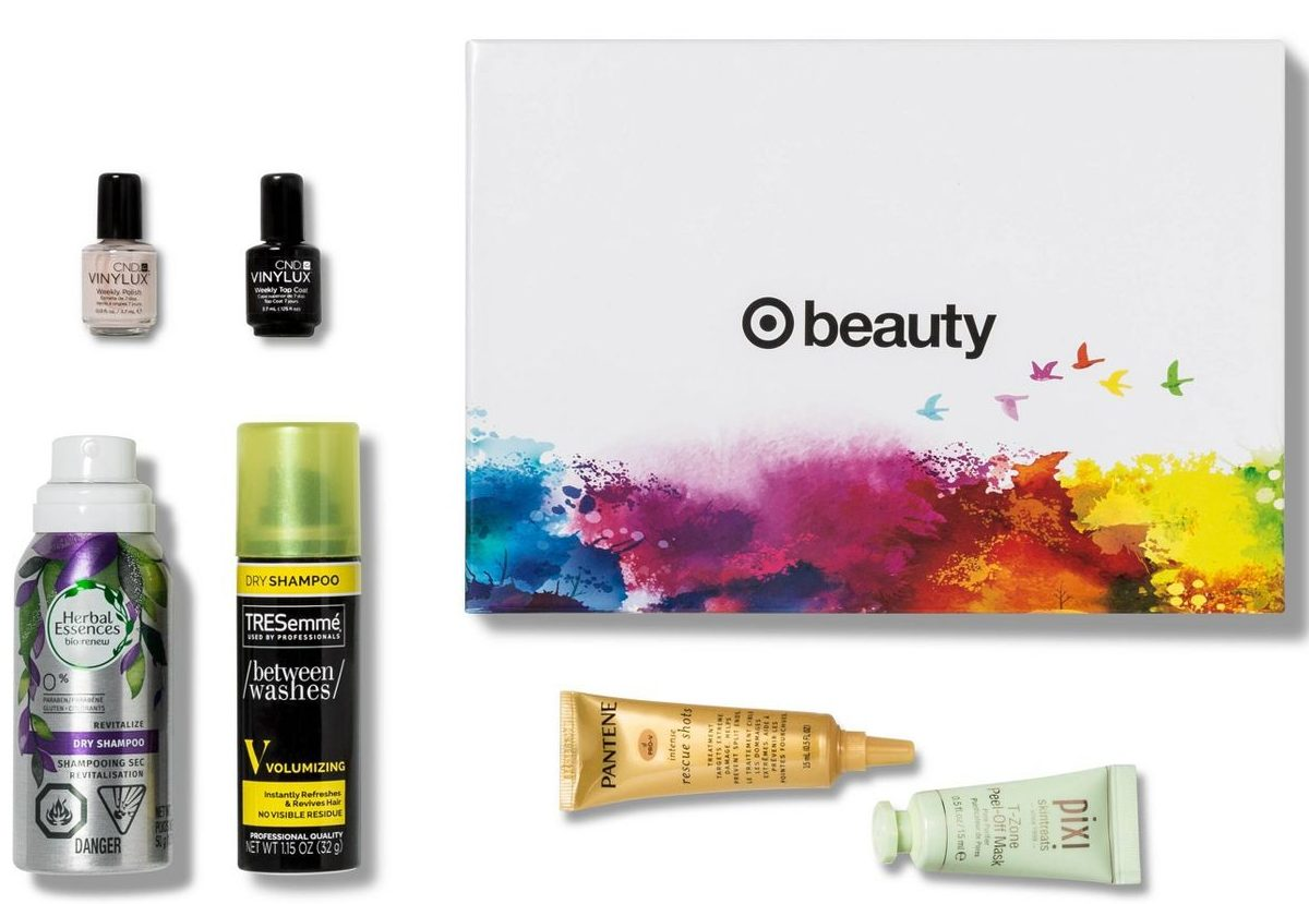 beauty samples with box