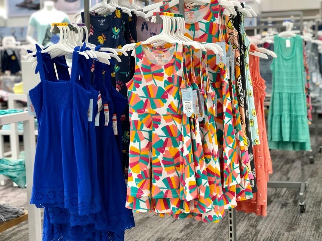 cat & Jack girl's dresses on Target racks