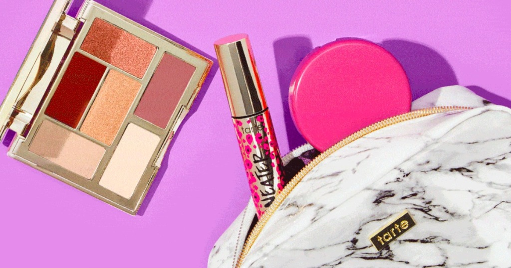 Tarte Custom Beauty Kit with Purple background