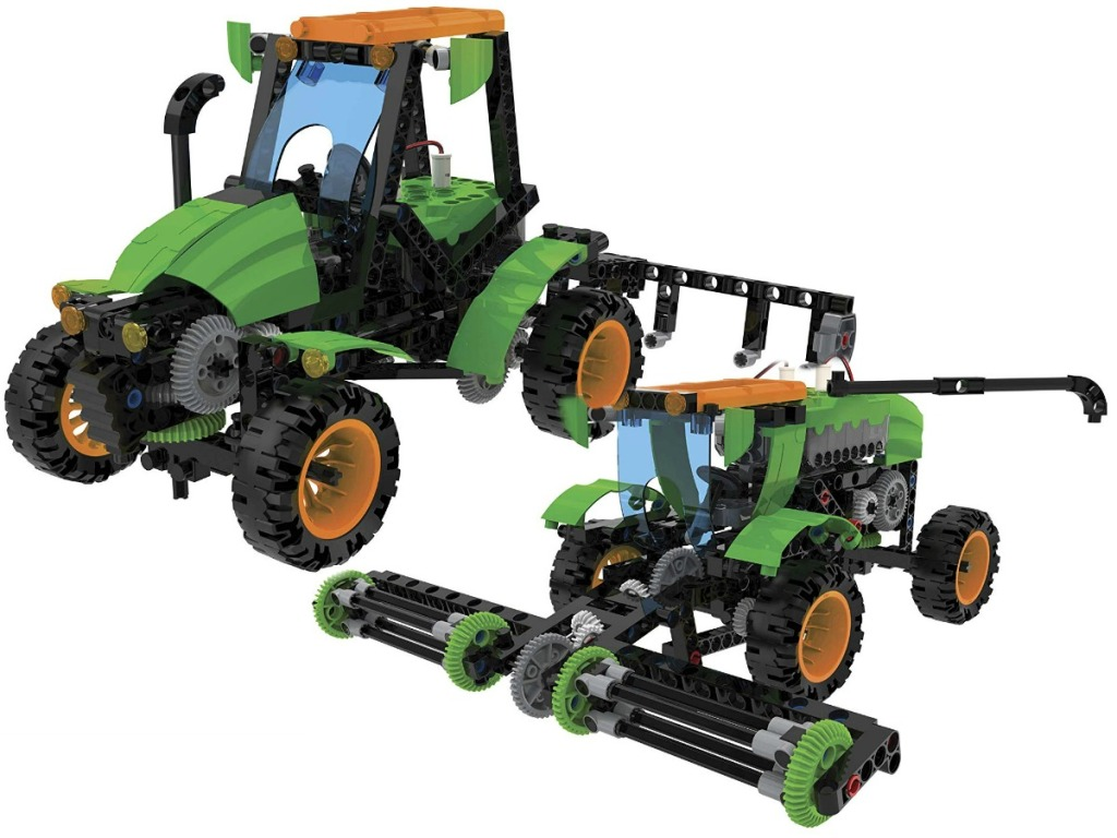 two robotic farm machines