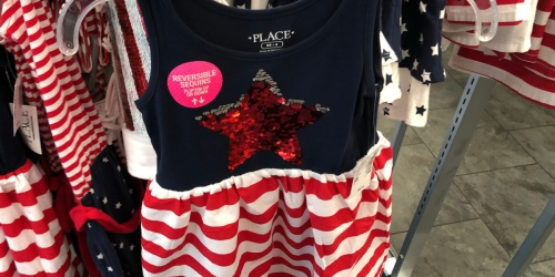Up To 70% Off The Children's Place Patriotic Apparel & More + FREE Shipping