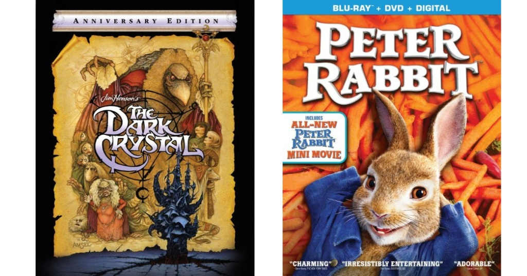 The Dark Crystal and Peter Rabbit Blu-ray Dvd