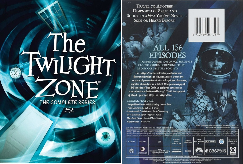 The Twilight Zone the complete series case front and back
