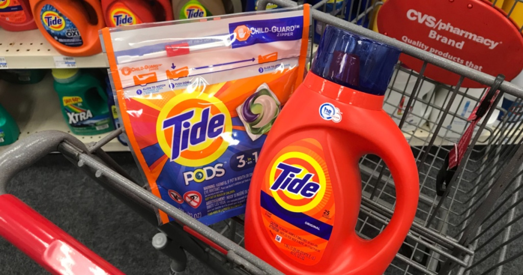 Tide detergent in cart