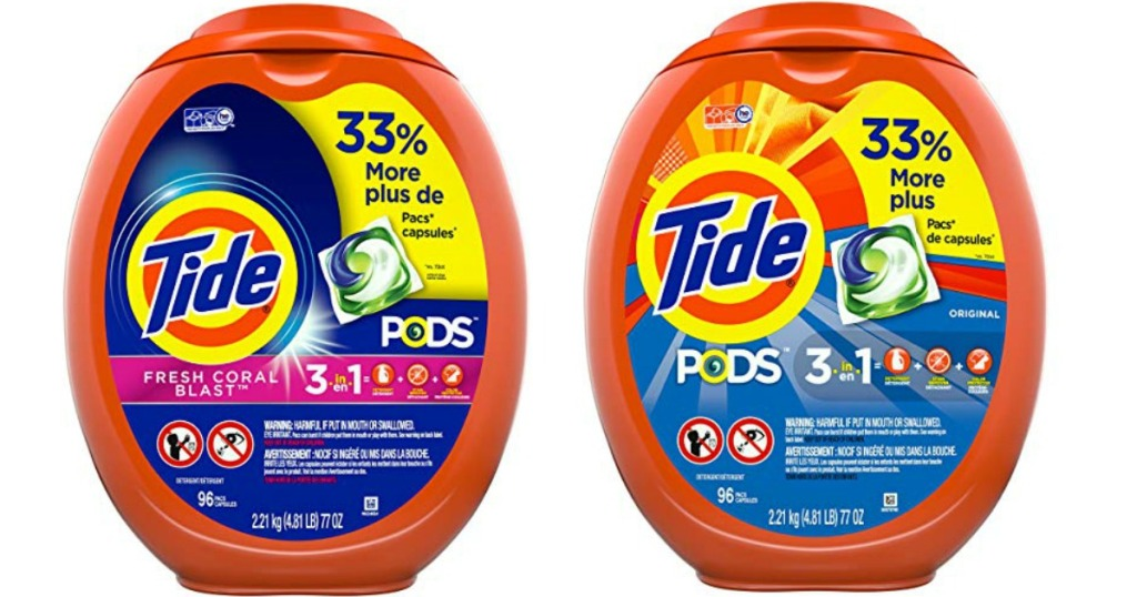 tide pods fresh coral blast and original scent 96 count