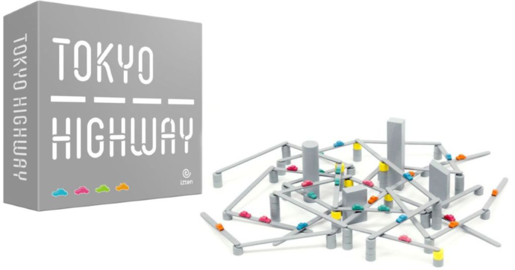 tokyo highway board game pieces with box