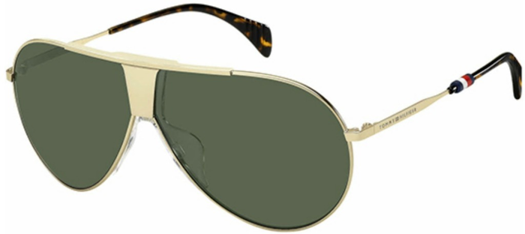 gold and black wire-frame classic pilot sunglasses