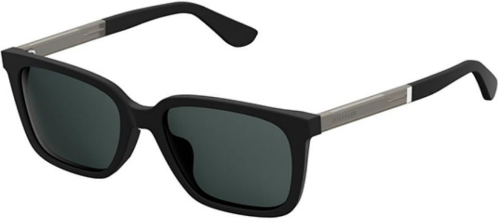 classic black square sunglasses with black frames and lenses