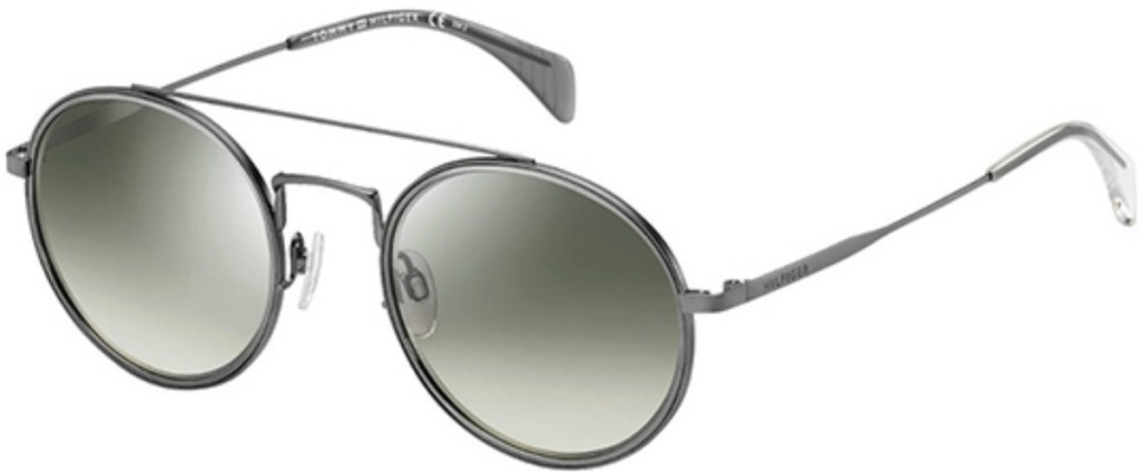 gray sunglasses with wire-thin frames