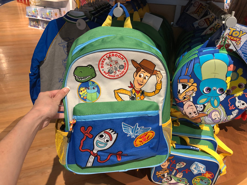 Toy Story 4 Backpack being held by a woman's hand at shopDisney