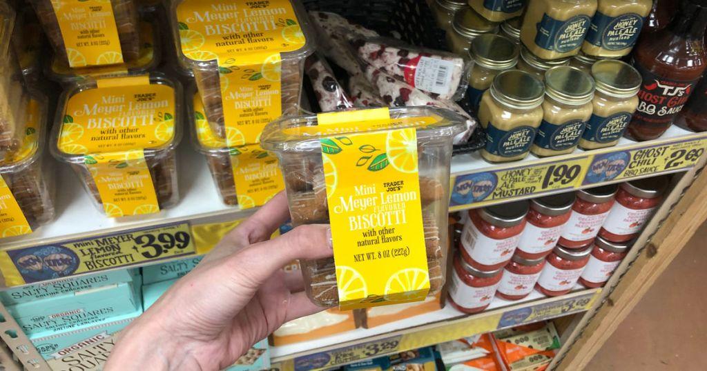 lemon biscotti at trader joes