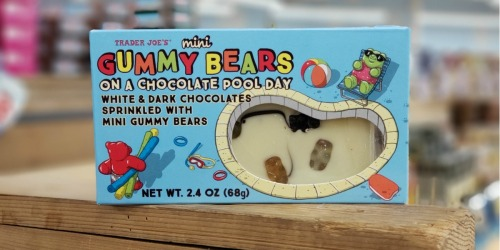 You Can Eat Trader Joe's Mini Gummy Bears Swimming in a Chocolate Pool