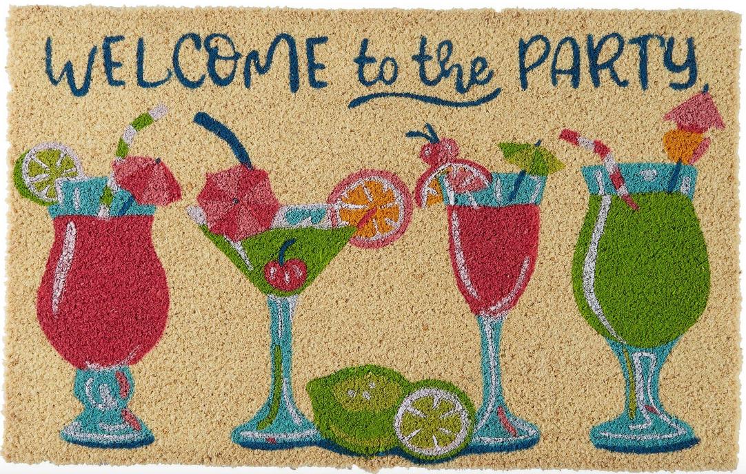 Margarita themed door mat