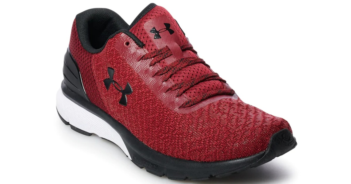 red and black under armour charge men's shoes