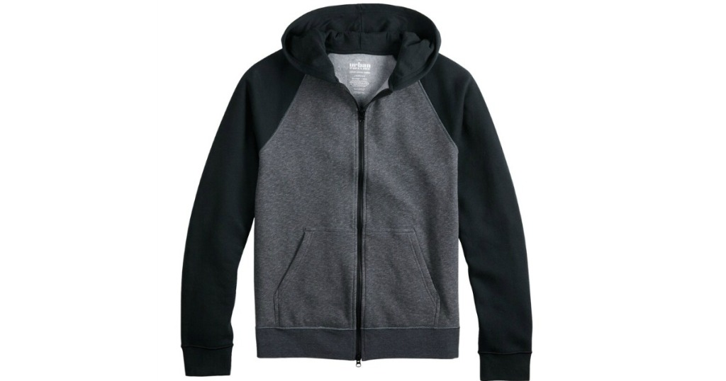 Urban Pipeline Fleece Jacket in black and gray