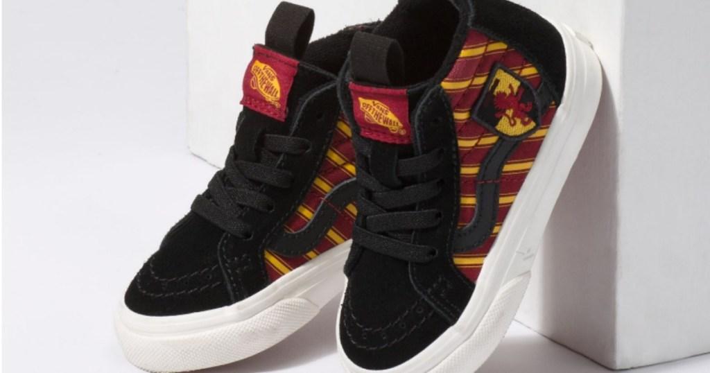 Vans x HARRY POTTER GRYFFINDOR Zip Shoes on display