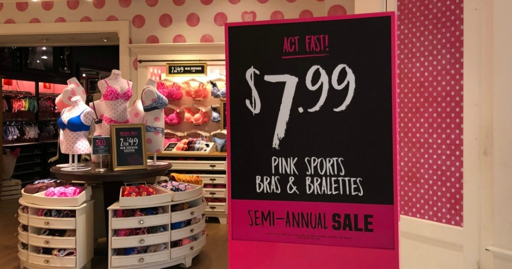ce2f85d2565a Victoria's Secret PINK Sports Bras & Bralettes Only $7.99 (Regularly $23) –  In Store Only