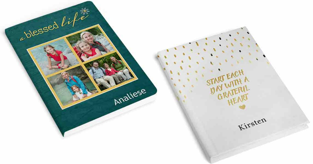 two Walgreens photo journals