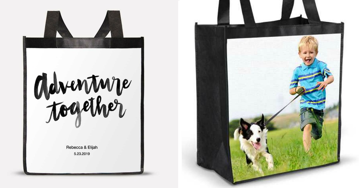 reusable Shopping Bags customized with phrases and photos