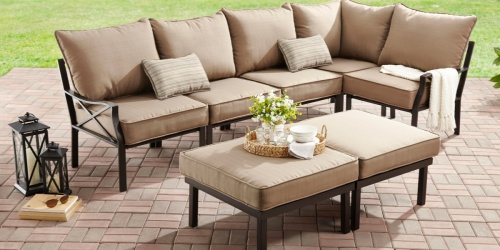 Mainstays 7-Piece Outdoor Sectional Set Only $375 Delivered at Walmart (Regularly $700)