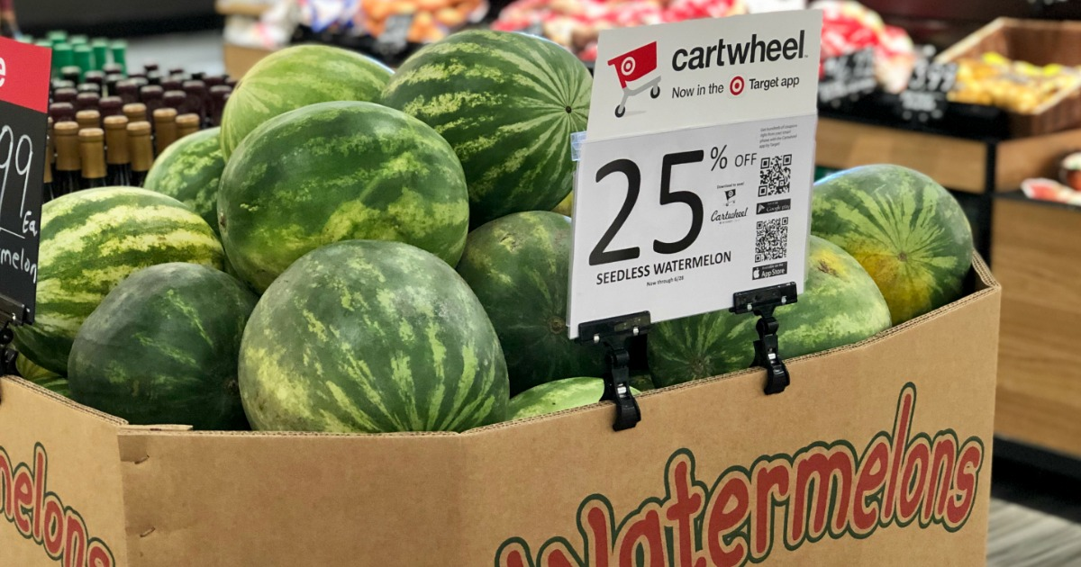 watermelons in cardboard box